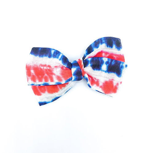 Patriotic Tie Dye Gauze Bow