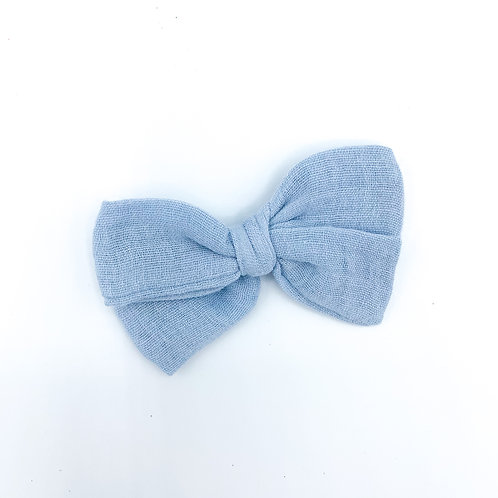 Mini Dusty Blue Gauze Bow
