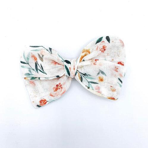Kauai Floral Gauze Bow