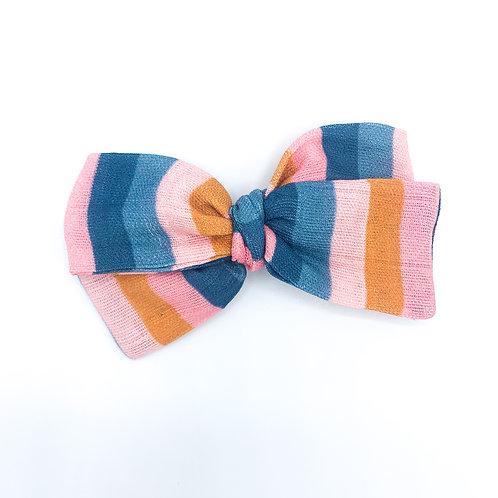 Mini Tropical Stripe Gauze Bow