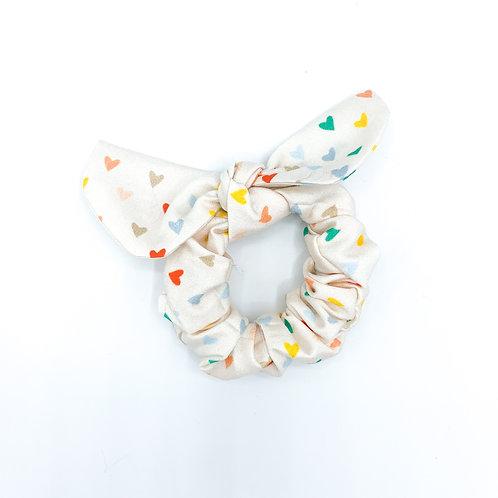 Retro Heart Scrunchie
