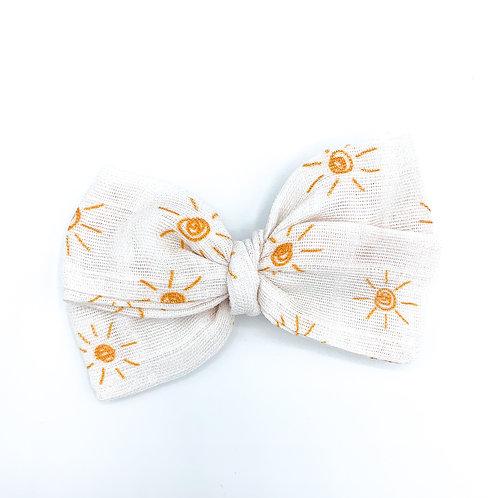 Mini Sunshine Gauze Bow