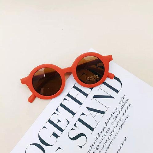 Coral Round Sunglasses