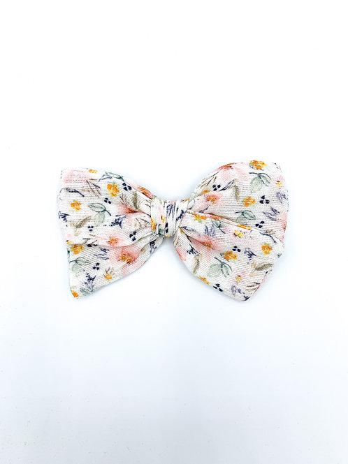 Mini Farmhouse Floral Gauze Bow