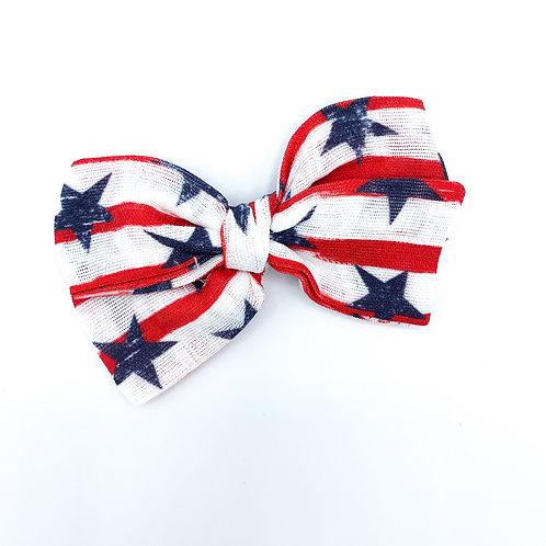 Stars and Stripes Gauze Bow