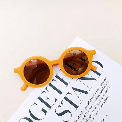 Mustard Round Sunglasses