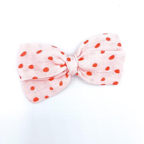 Valentine Dot Gauze Bow