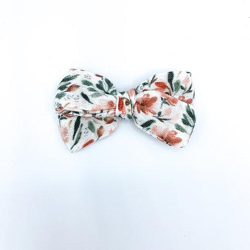 Mini Rusty Floral Gauze Bow