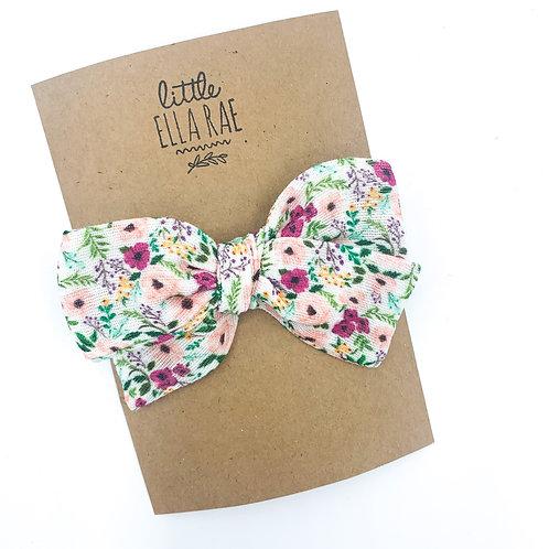 Mini Berry Sweet Floral Gauze Bow
