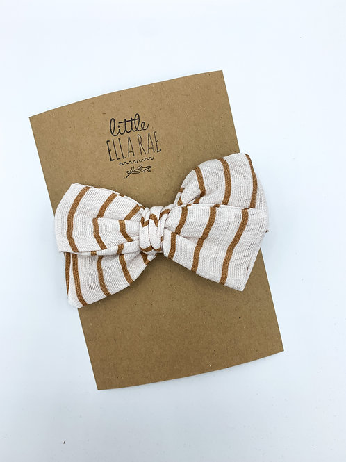 Copper Stripe Gauze Bow
