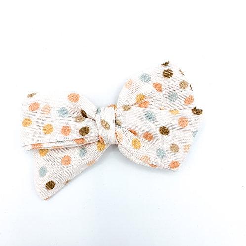 Vintage Summer Dot Gauze Bow