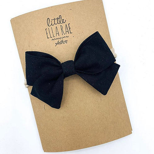 Black Navy Bow