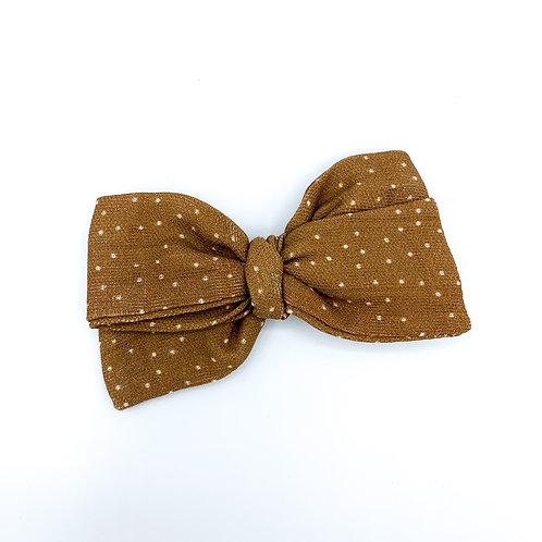 Copper Dot Gauze Bow