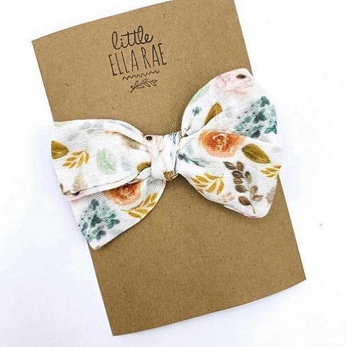 Mini Sweetheart Floral Gauze Bow