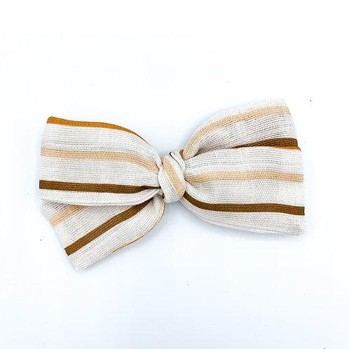 Harvest Stripe Gauze Bow