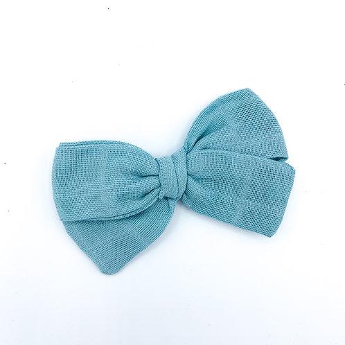 Dusty Blue Gauze Bow