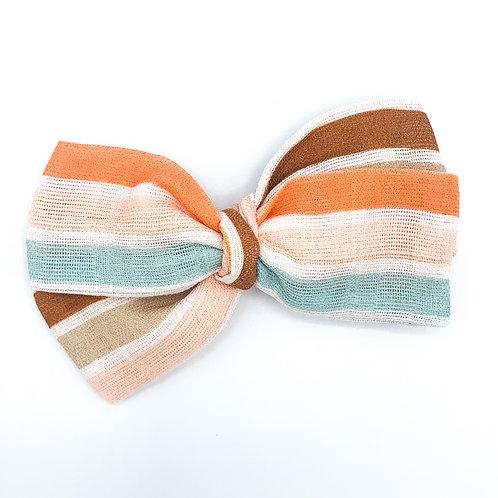 Boho Summer Stripe Gauze Bow