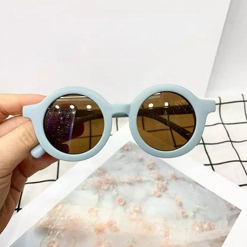 Sky Blue Round Sunglasses