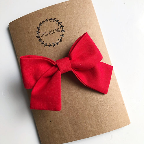 Red Navy Bow