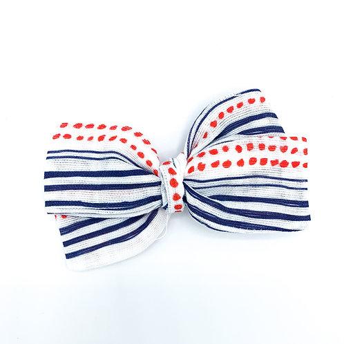 Mini Whimsy Patriotic Gauze Bow