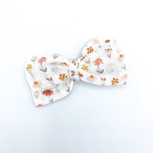 Terracotta Wildflower Gauze Bow