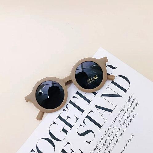 Taupe Round Sunglasses