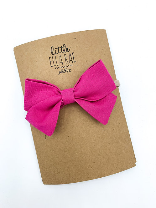 Hot Pink Navy Bow