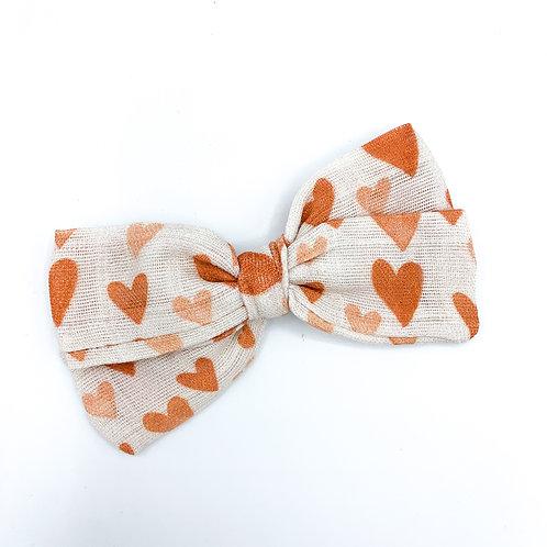 Vintage Hearts Gauze Bow