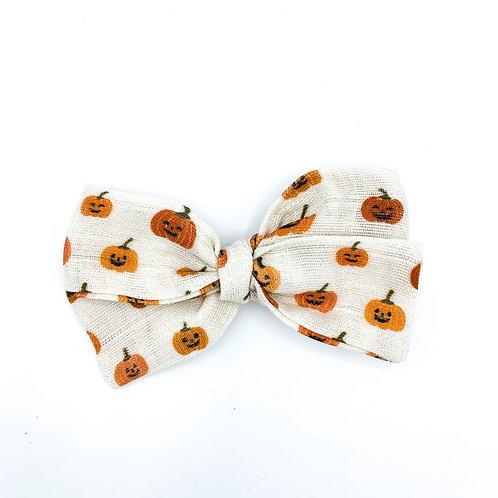 Jack-O-Lanterns Gauze Bow