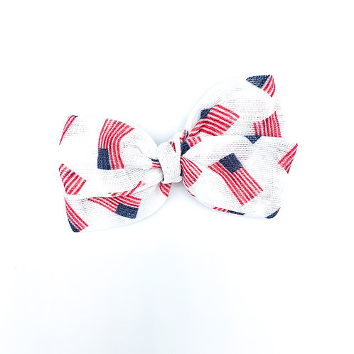 American Flag Gauze Bow
