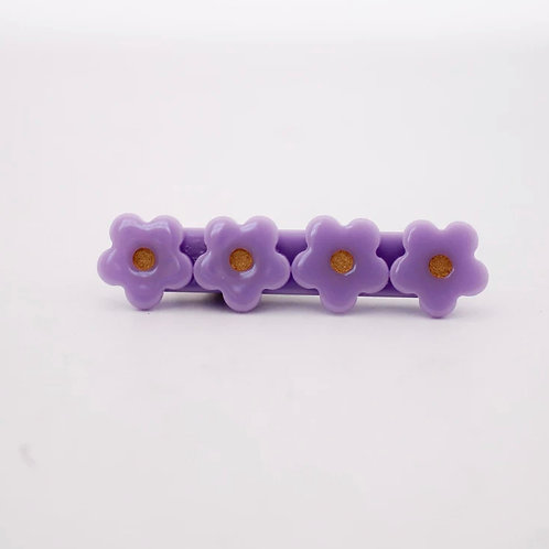 Purple Flower Acrylic Hair Clip