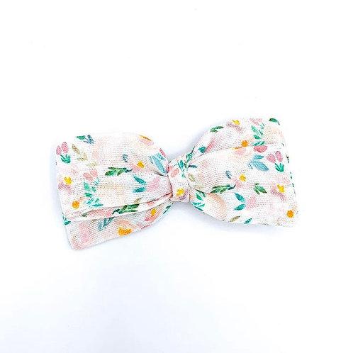 Mini Front Porch Floral Gauze Bow