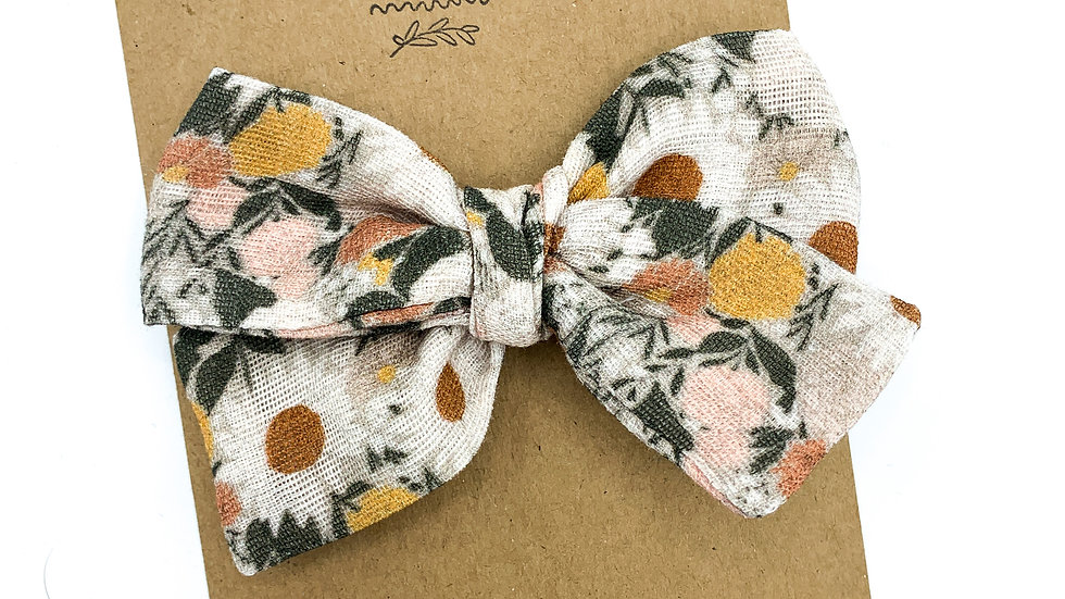 Mini Muted Juliet Gauze Bow