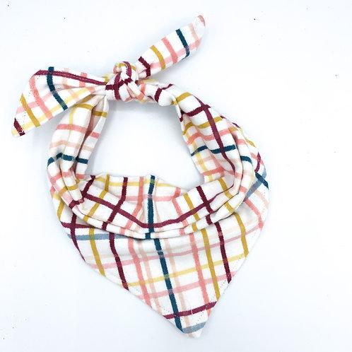 Fall Striped Plaid Pup Bandana
