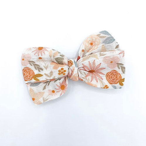 Mini Terracotta Floral Gauze Bow