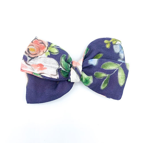 Summer Roses Floral Gauze Bow