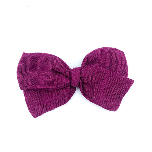 Mini Berry Gauze Bow