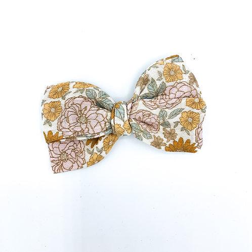 Mini Golden Girl Gauze Bow