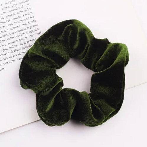 Emerald Velvet Scrunchie