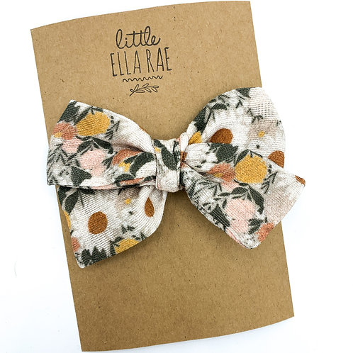 Muted Juliet Floral Gauze Bow