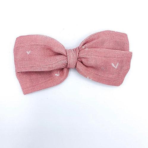 Rose Heart Gauze Bow
