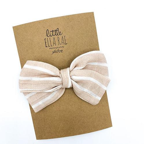 Daisy Almond Stripe Gauze Bow