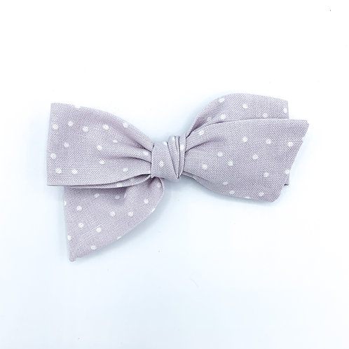 Lilac Dot Quincey Bow