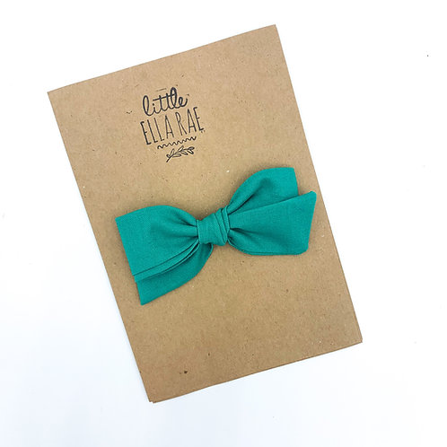 Teal Quincey Bow