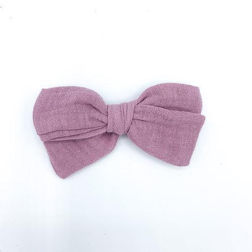 Mini Dusty Rose Gauze Bow