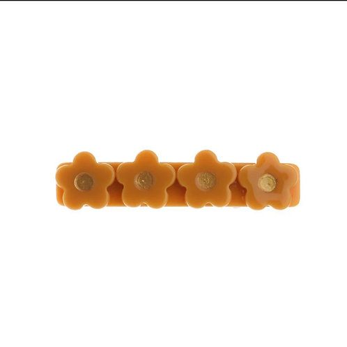 Pumpkin Flower Acrylic Hair Clip