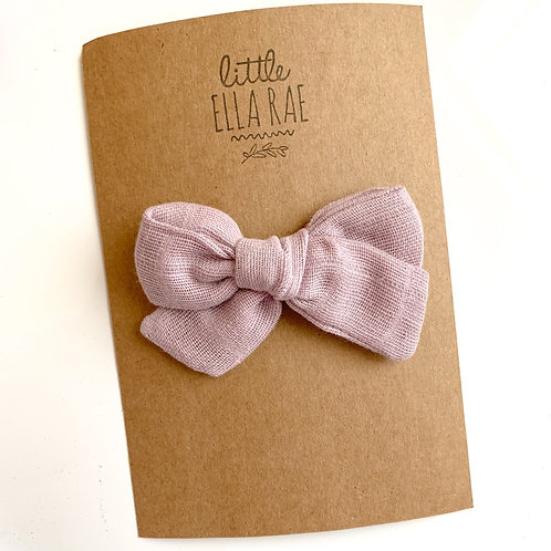 Mini Lavender Gauze Bow