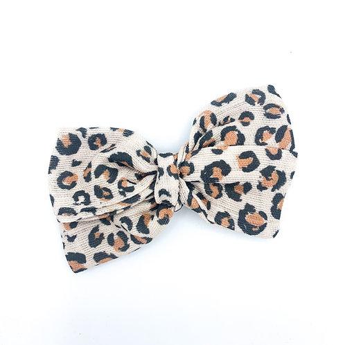 Cheetah Gauze Bow