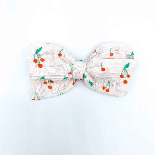 Mini Cherries Gauze Bow
