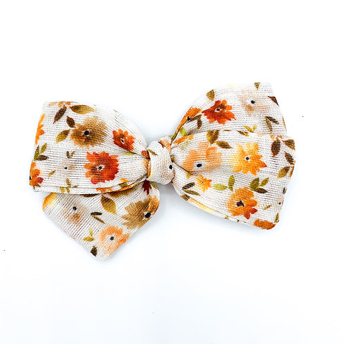 Leaves Floral Gauze Bow